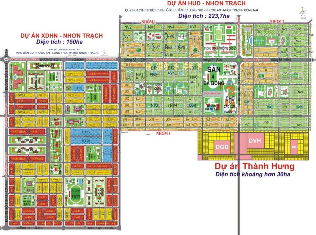 HUD Nhơn Trạch và XDHN Nhơn Trạch là 2 dự án trọng điểm