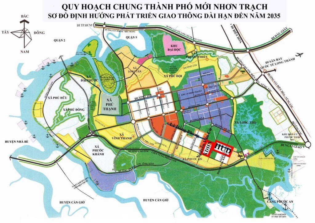 HUD Nhơn Trạch có mạng lưới giao thông hoàn hảo